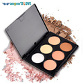 Professional 6 Colors Blush Trimming Set Makeup Contour Blusher Face Powder Palette Foundation Make-up Palette Comestics