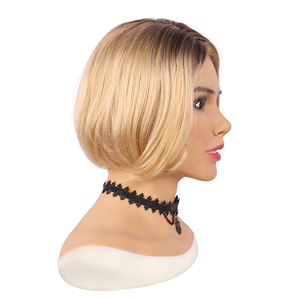 Image 5 - Soft Silicone Realistic Female Head Mask Betris Angel Face with Neck Fake Breast Forms for Crossdresser Transgender Shemale Doll