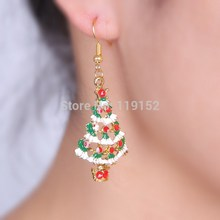 2014Fashion CHARMS accessories christmas earrings tree earings dangle earring plating gold jewelry Party earrings for women