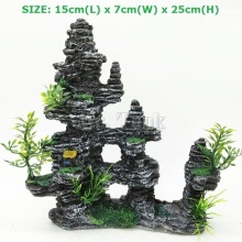 Mr.Tank Aquarium Artificial Rockery Ornament For Fish Tank Hiding Cave Mountain View Landcape Aquarium Aquatic Decorations Kit