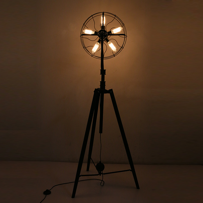loft American country industrial fan floor lamp black iron contracted sitting room bedroom personality floor lamp ledream contracted and creative personality sitting room dining room art glass chandelier american cherry branches pendent lamp
