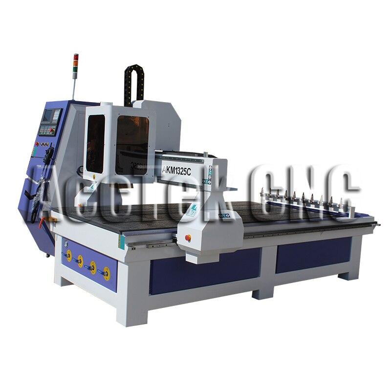 AccTek Cnc Milling Machine Automatic Tool Changer, Auto Change Router Bit Woodworking Machine AKm1325C