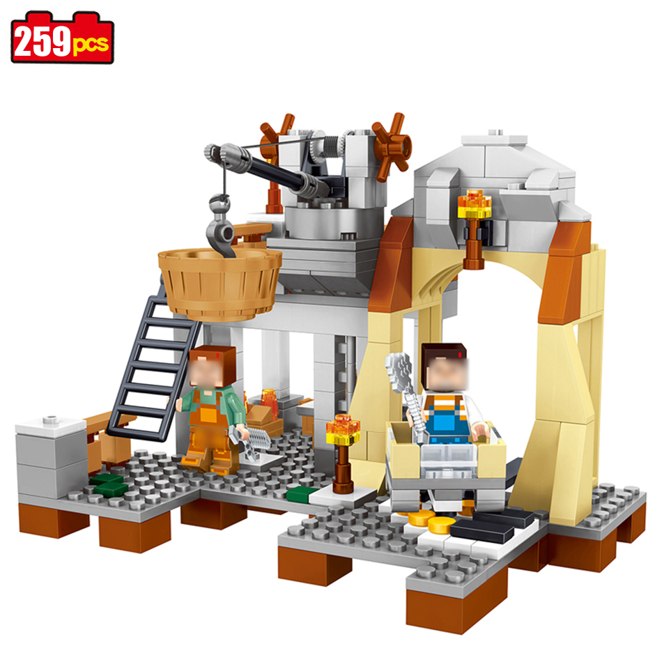 259pcs My World Minecrafted building Blocks Compatible Legoed Enlighten bricks hot action Figures Toys for children gift 0517 lepin 22001 pirate ship imperial warships model building block briks toys gift 1717pcs compatible legoed 10210
