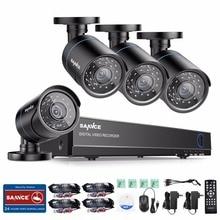 SANNCE 4CH CCTV Sistema 1080 P HDMI de Salida de Video Vigilancia DVR Kit con 4 UNIDS 1280TVL 720 P del CCTV del Hogar Sistema de Cámaras de seguridad