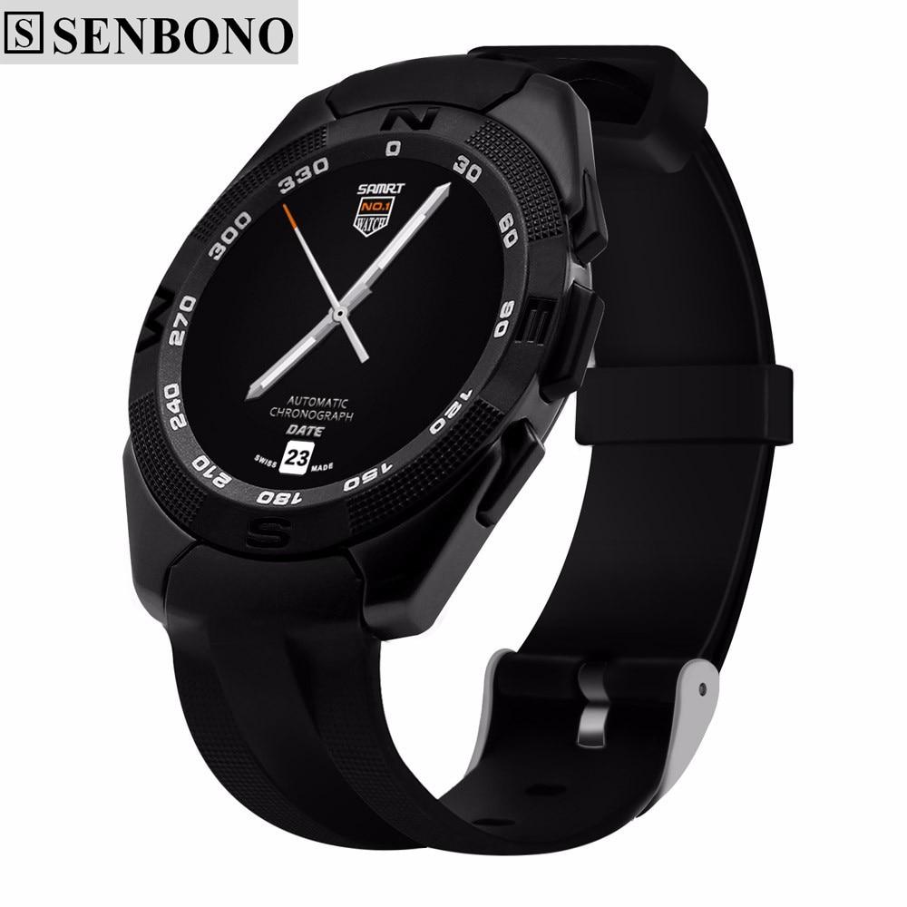 imágenes para SENBONO NO. 1 G5 Inteligente Reloj Smartwatch MTK2502 Física Pulsómetro Rastreador de Llamadas SMS Recordatorio Cámara para Android iOS