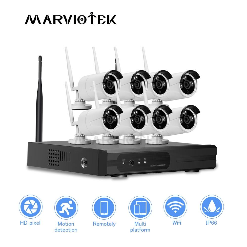 8CH CCTV Camera System wi fi 1080P HD IP Camera wifi nvr kit CCTV wifi camera set wireless home camera security system Outdoor
