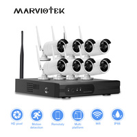 8CH CCTV Camera System wi fi 1080P HD IP Camera wifi nvr kit CCTV wifi camera set wireless home camera security system Outdoor