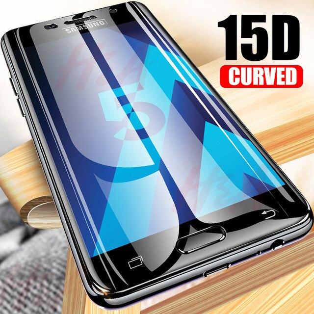 H & A 15D Protetor de vidro temperado para samsung galaxy A3 A5 A6 A7 A8 2017 2018 protetor de tela de vidro para samsung A3 A5 A7 VIDRO