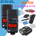 2x Godox Mini Speedlite + transmetteur de X1T-O TT350O Flash caméra TTL HSS GN36 pour Panasonic GX85 GX8 GX7 GH5 GH4 GH3 G7 G85 + cadeau