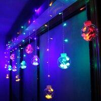 3 M 12 leds Đèn Lồng bóng string ánh sáng AC220V EU cắm cửa sổ trang trí nội thất Christmas hôn nhân đám cưới bố trí phòng đầy màu sắc LED đèn IQ