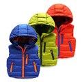 Детская одежда осень мальчик хлопок жилет ребенок с капюшоном верхней одежды утолщение верхней осенью и зимой