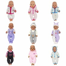 Doll Jump Suits Fit For 43cm Baby Born Zapf Doll Reborn Baby Clothes And 17inch Doll Accessories