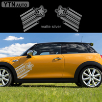 for MINI Cooper Countryman Clubman Paceman R56 R60+ F54 F56 car acceessories modified decals 2pc side door star vinyls stickers