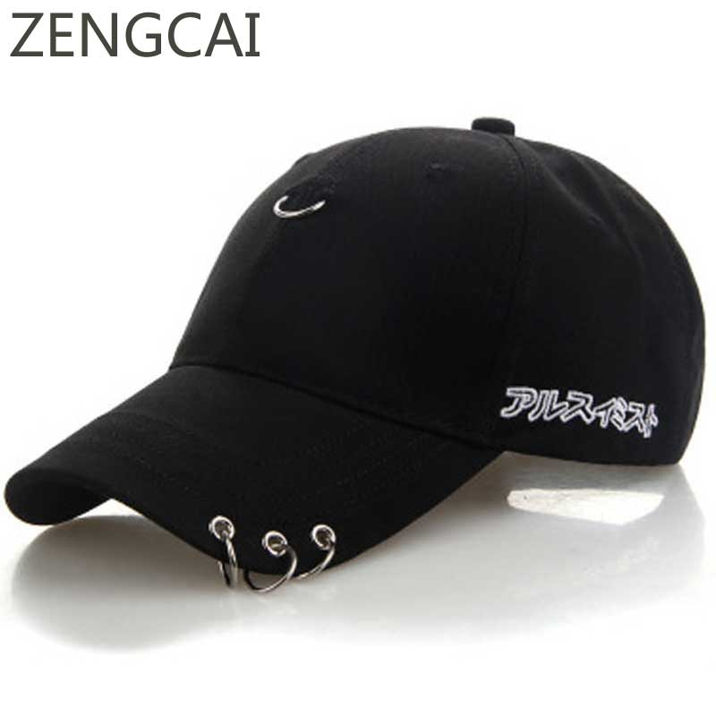 Fashion K Pop Dad Hat Snapback Ring Cap Adjustable Embroidery Baseball Caps Men Women Hip Hop Black Hats Casual Unisex Wholesale