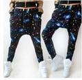 2014 New fashion Brand Hip hop dance sweatpants costume loose casual cosmo print galaxy big crotch harem Camouflage pants