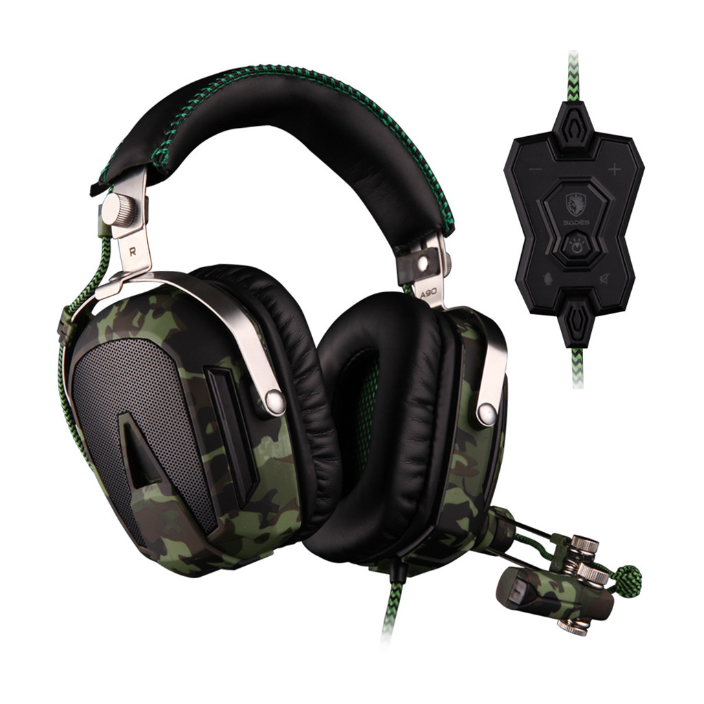 VOBERRY SADES A90 Cable Game USB Headphones With 7.1 Channel Microphone Sound Card Super HeadphonesVOBERRY SADES A90 Cable Game USB Headphones With 7.1 Channel Microphone Sound Card Super Headphones