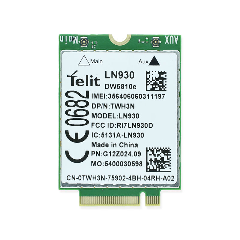 DW5810e Telit LN930 TWH3N NGFF M.2 4G/LTE/DC-HSPA+ WWAN  wireless network Card for Venue 11 Dell laptop jinyshi for 68dp9 2pcs ngff m 2 ipex4 antenna 3g card for dell venue 8 and 11 pro em8805 wwan hspa ngff dw5570