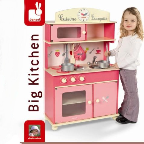 Luxury Wooden Kitchen Janod Princess Toy Toy Fish Toy