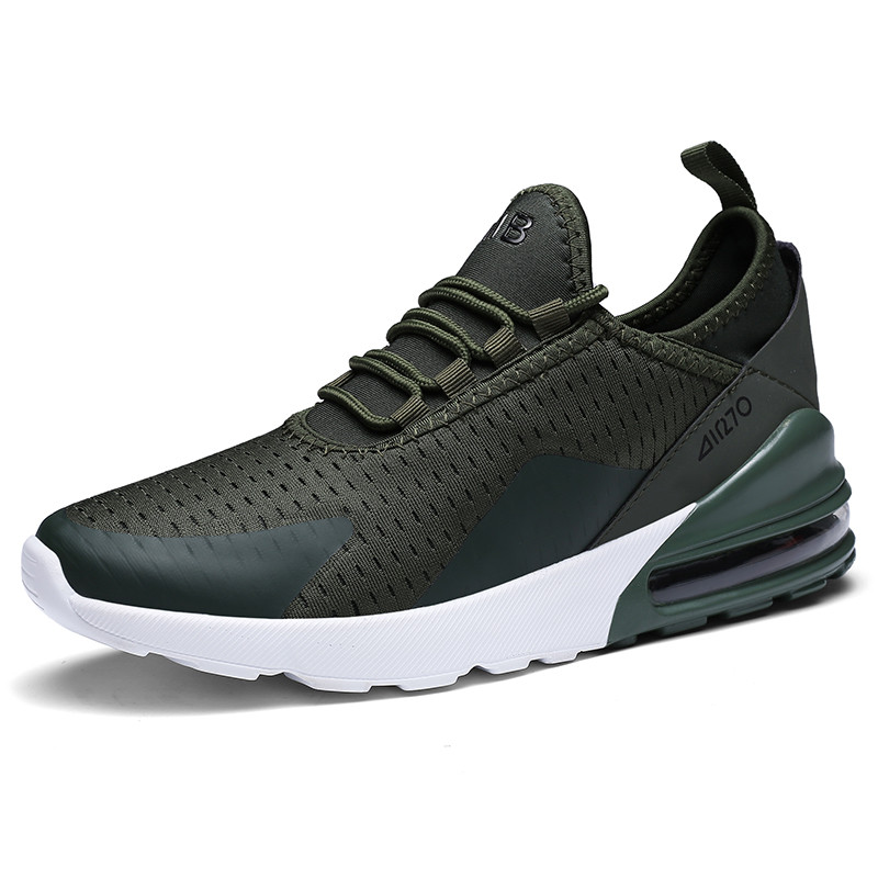 Popular Style 270 Men Sneaker Breathable Man Running Shoes Green Gym Shoe Male Chaussure Homme Damping Jogging Sports Zapatos 46