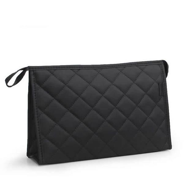 女性化粧品袋の機能ダイヤモンド格子旅行化粧ケースジッパーバッグオーガナイザーストレージポーチトイレタリーウォッシュバッグボックス