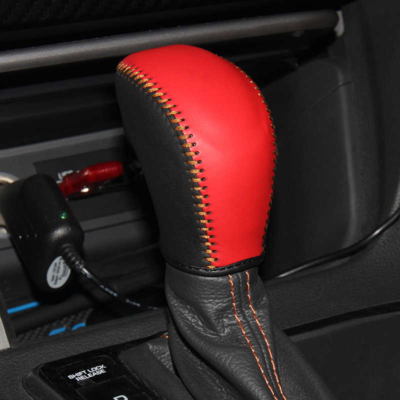 Top Genuine leather gear stick shift knob cover For Hyundai sonata 9 AT Case ppc cpr pen case on the shift lever pen cpt