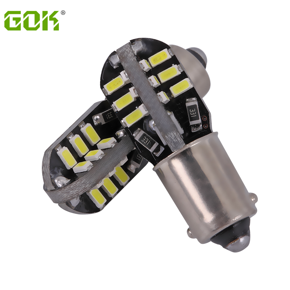 50pcs/lot Free shipping Car Auto LED BA9S canbus 24SMD T4W led W5W Canbus 24led 3014 smd  ba9s LED canbus No error car led light free shipping one lot 50 pcs ds1207 330m 33uh shielded smd power inductors