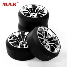 SBDC+PP0370 Vehicle Toys Accessories4pcs/set RC Car Tires Set Flat Wheel Rim 12mm Hex for HPI 1:10 On-Road Racing Car Offset 6mm 12mm hex rc car model kids toys accessory 1 10 flat rubber tires and wheel rim for hsp hpi rc on road racing car 10365 21006