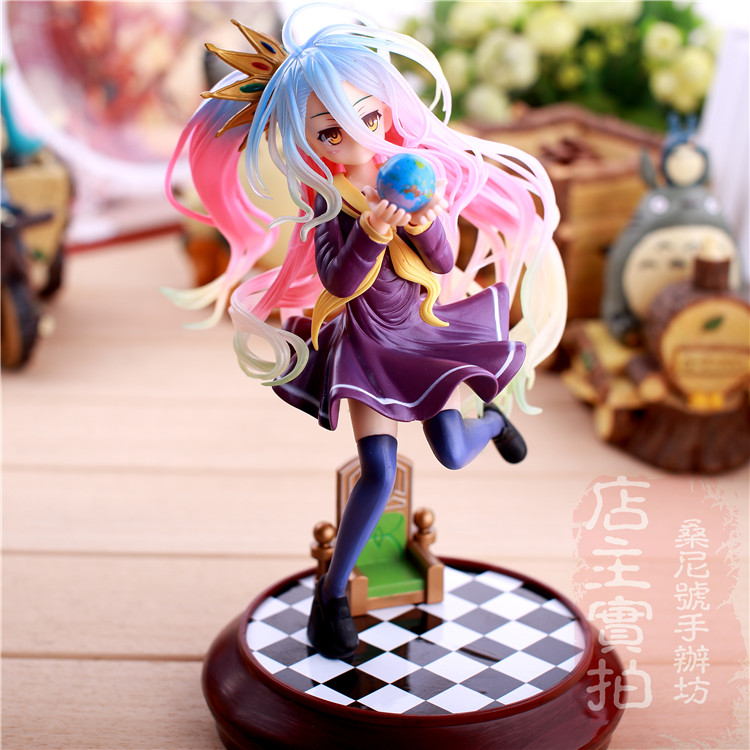 New Kotobukiya Shiro Game Anime No Game No life White Ani Statue Sexy 22cm Action Figure