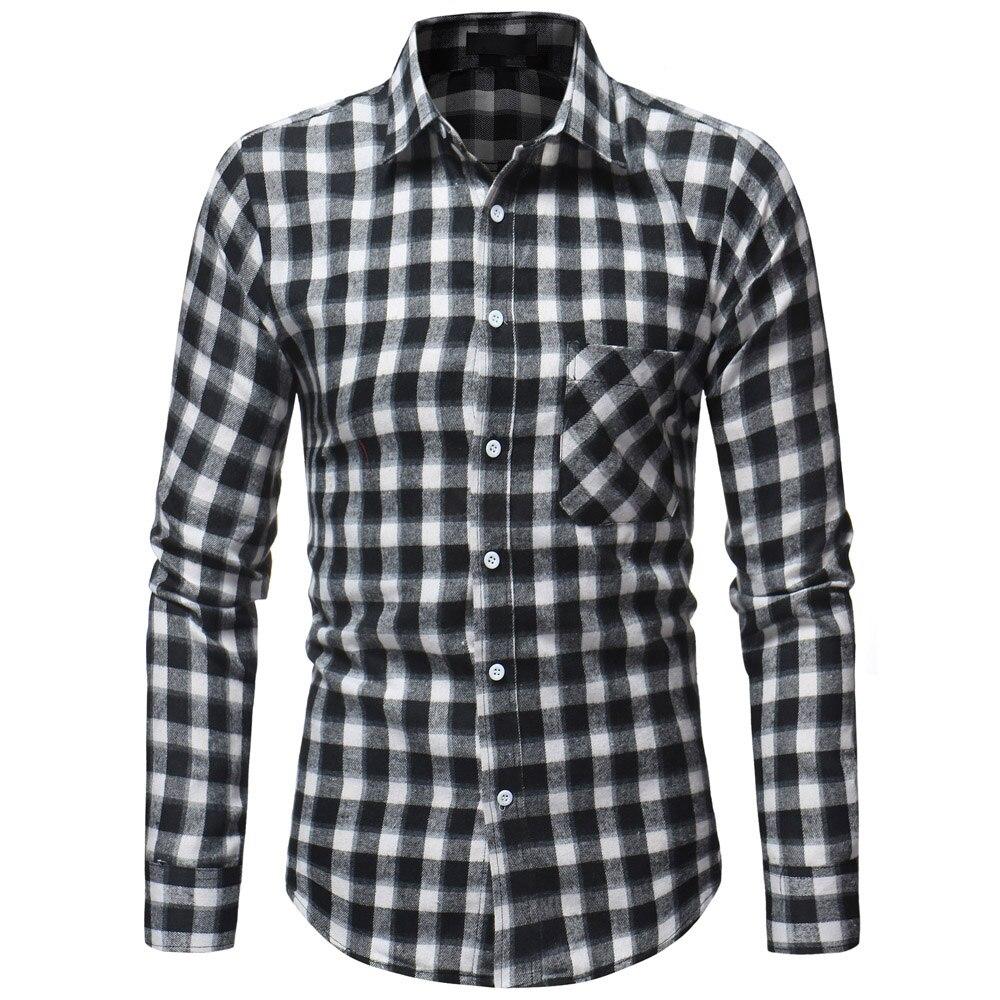 Рубашки в клетку 2018 Новый осень-зима красная клетчатая рубашка Для мужчин рубашки с длинным рукавом Chemise Homme хлопок мужской рубашки проверки