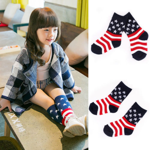 Toddlers Kids Hot Sale Knee High Socks For 0-4 Years Combed Cotton Hosiery