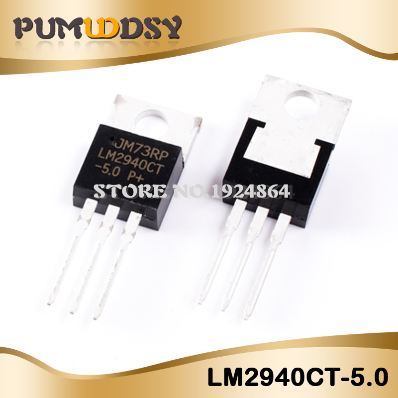 10pcs/lot Free Shipping LM2940CT-5.0 LM2940CT LM2940 TO-220 Regulator New Original IC