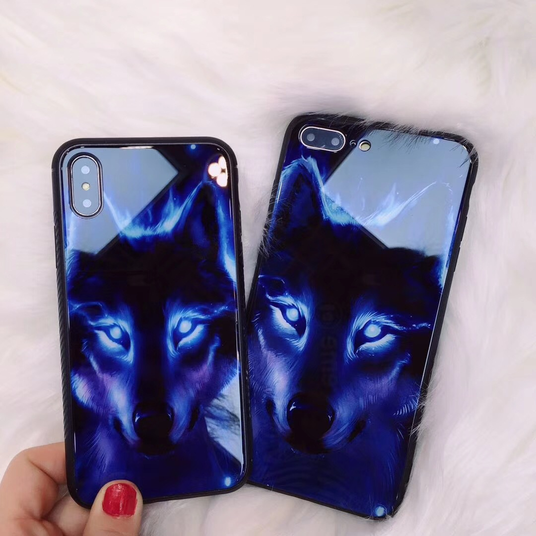 New Lion Wolf Phone Case For iPhone 6 6S 7 8 Plus X Luxury