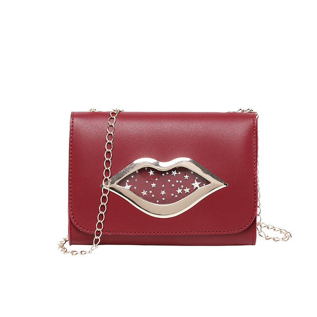 Women's Multicolor Leather Hasp Crossbody Bag