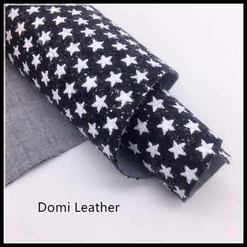 (DM6064) ดาว Chunky Glitter ผ้าสำหรับ Bows