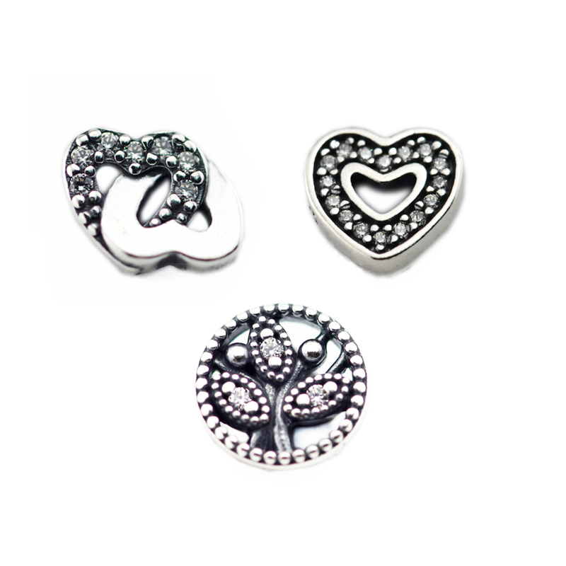 3pcs Parts for Floating Locket Pendant and Necklace 100%