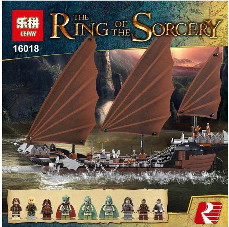 New Lepin 16018 Genuine The lord of rings Series The Ghost Pirate Ship Set Building Block Brick Toys 79008 lepin 16018 756pcs genuine the lord of rings series the ghost pirate ship set building block brick toys compatible legoed 79008