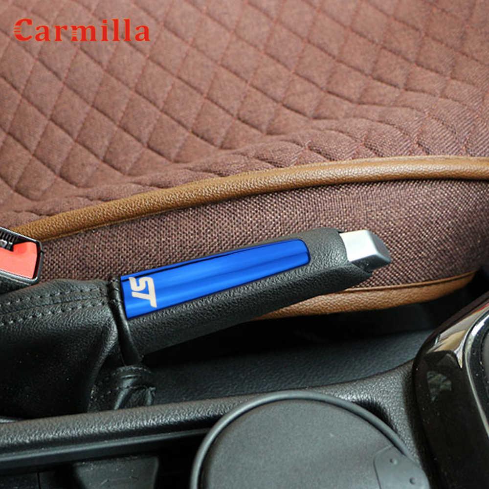 車のハンドブレーキクロームトリムハンドブレーキハンドルカバーステッカーフォードフォーカス 2 3 4 MK2 MK3 MK4 2009- 2017 アクセサリー
