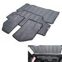 Car Styling Black 2pcs 4pcs Per Set Sound Deadener Hard Top Insulation Roof Panel For Wrangler2011