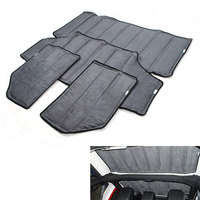 Car Styling Black 2pcs 4pcs Per Set Sound Deadener Hard Top Insulation Roof Panel For Wrangler2011