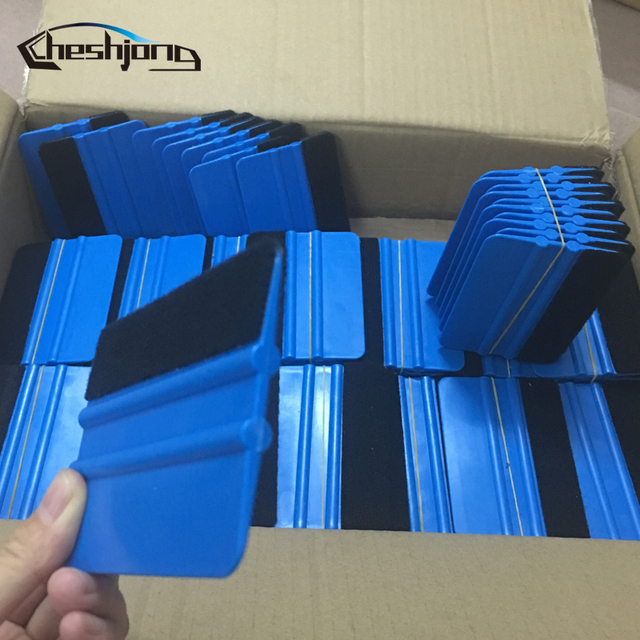 Escurridor de bordes de fieltro de plástico, vinilo para envoltorio de coche, raspador de herramientas, juego de aplicaciones de envoltura útil, 50/100/200 piezas por lote