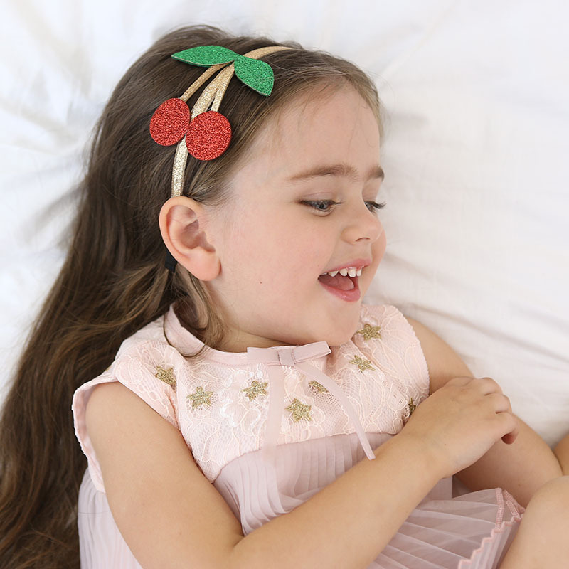 где купить  New Top Fashion Lovely Glitter Cherry Crown Hairband Princess Hair Hoop Headband Hair Accessories for Girls kids hair ornament  дешево
