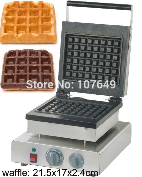 Hot Sale 110v 220V Commercial Use Non-stick Electric 21.5x17cm Brussels Waffle Machine Maker Iron Baker hot sale 110v 220v electric grilled hot dog machine