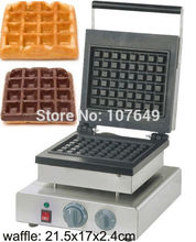 Hot Sale 110v 220V Commercial Use Non-stick Electric 21.5x17cm Brussels Waffle Machine Maker Iron Baker
