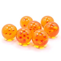 Японии аниме Dragon ball Z звезда хрустальный шар набор 7 шт., большой Размеры 7,5 см