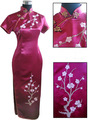 High Quality Bride Wedding Party Dress Chinese Style Embroidery Cheongsam Qipao Flower Size S M L XL XXL XXXL WC132