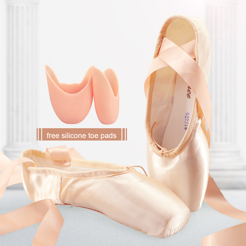Sales Satin Ballet Pointe Shoes Professional Girls Ladies Ballerina Dance Shoes With Ribbons colorful ballet pointe shoes silky satin material beautiful colors professional ballet dance pointe shoes