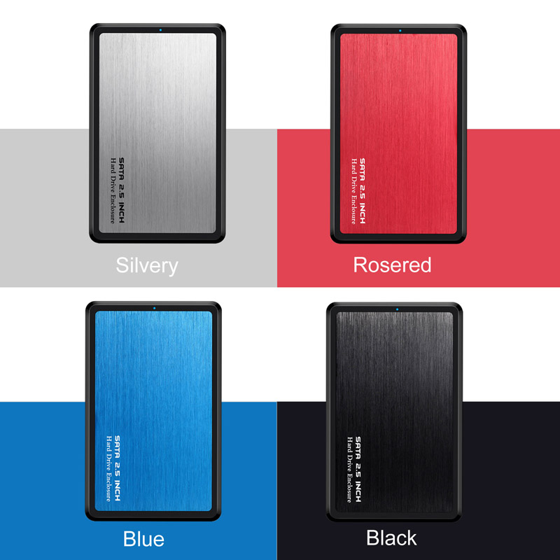 2.5inch USB 3.0 SATA Hd Box HDD Drive External HDD Enclosure Black Case Tool Free 5 Gbps Support UASP For SSD/ 2TB Hard Disk