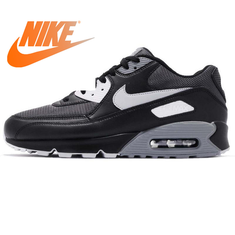 Original Authentic NIKE AIR MAX 90 ESSENTIAL Low Men's Running Shoes Sneakers Breathable Lace Up Sports Outdoor Walking Jogging