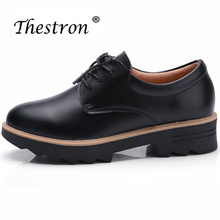 New Arrival Oxford Shoes For Women Leather Luxury Brand Sneakers Platform Shoe Fashion Comfortable Flats Four Season