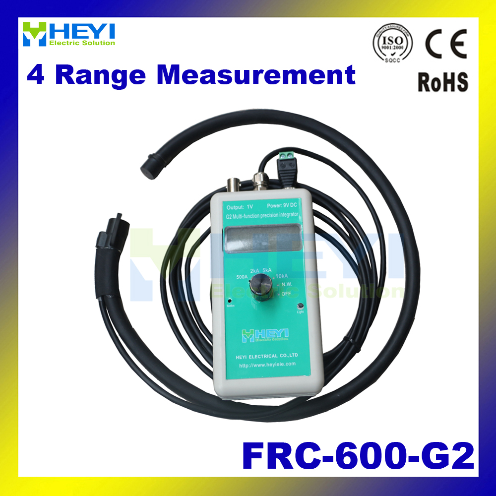 4 current range flexible rogowski coil FRC-600-G2 500A 2000A 5000A 10KA with channel integrator G2 rto 600 500a square tube blade contact fuse rt0 600 type 500a rto